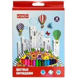 Набор цветных карандашей Action! ACP360-18 18 шт