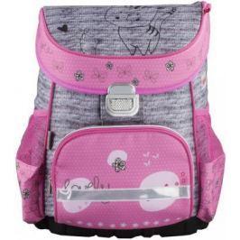Ранец ортопедический HAMA Lovely Cat 18 л серый розовый 00139076