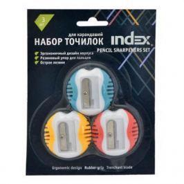 Набор точилок Index ISH430B/3 пластик ассорти