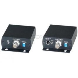 Комплект SC&T IP02EP для передачи Ethernet и питания по коаксиальному кабелю до 500м