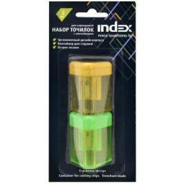 Набор точилок Index ISH310B/2 пластик ассорти