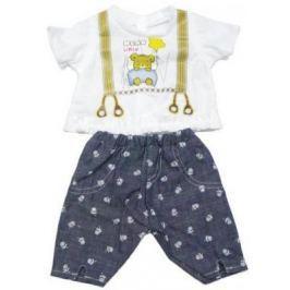 "Одежда для кукол Mary Poppins ""Mary Poppins"" белая кофточка и серые штанишки с узором 452060"