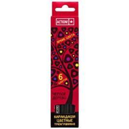 Набор цветных карандашей Action! 4607692490544 6 шт 160 мм