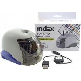 Точилка Index ISHE500 пластик серый