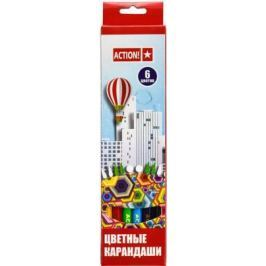 Набор цветных карандашей Action! 4680291026796 6 шт 160 мм