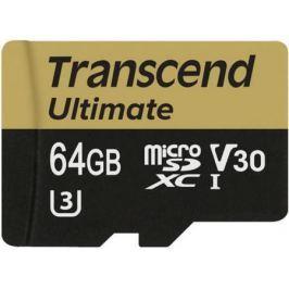 Карта памяти Micro SDXC 64Gb Class 10 Transcend TS64GUSDU3M