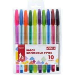 Набор шариковых ручек Action! ABP1001 10 шт разноцветный