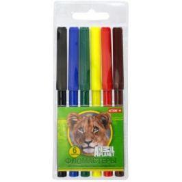 Набор фломастеров Action! Animal Planet 6 шт разноцветный AP-AWP129-06
