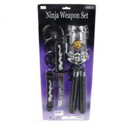 Набор оружия Shantou Gepai Ниндзя, звезды нинзя 3шт., кинжал, нунчаки, защита на руку RZ1400