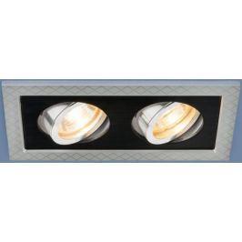 Встраиваемый светильник Elektrostandard 1041/2 MR16 SL/BK серебро/черный 4690389095443