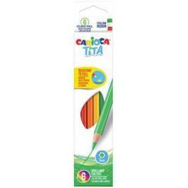 Набор цветных карандашей CARIOCA TITA 6 шт 174 мм 42792