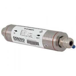 Устройство грозозащиты OSNOVO SP-IP/1000PW для локальной вычислительной сети скорость до 1000 Мб/сек 1 вход RJ45-мама/1 выход RJ45-мама
