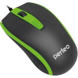 """Мышь проводная Perfeo """"Profil"""" чёрный зелёный USB PF-383-OP-B/GN"""