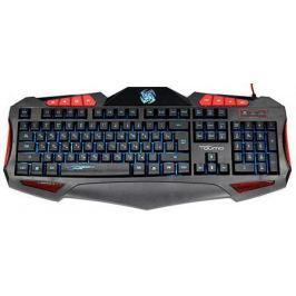Клавиатура проводная QUMO Axe [20796] USB черный красный
