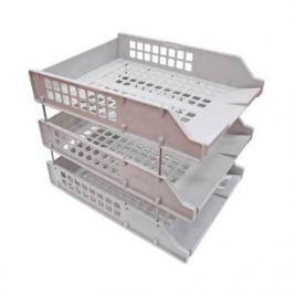 Набор из 3-х лотков, горизонтальных на металлических стержнях, серый ЛТ111