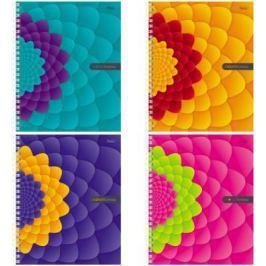 Тетрадь общая Хатбер Flower Fantasy 96Т5В1гр 96 листов клетка гребень в ассортименте