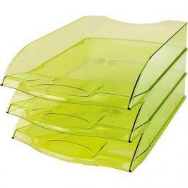 Лоток для бумаг горизонтальный ПРЕМИУМ, зеленый IT806Gr