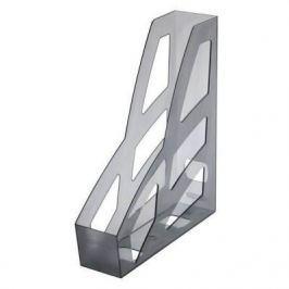 Лоток для бумаг ЛИДЕР, вертикальный, тонир. серый, 7 см. ЛТ124