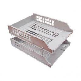 Набор из 2-х лотков, горизонтальных на металлических стержнях, серый ЛТ101