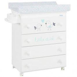 Комод пеленальный Micuna Little Chick (white-aquamarine/матрасик hearts)
