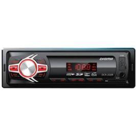 Автомагнитола Digma DCR-200R USB MP3 FM 1DIN 4x45Вт черный
