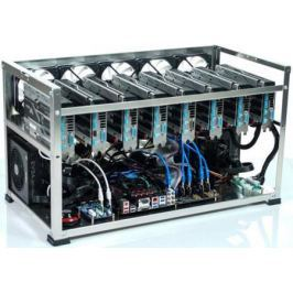 Персональный компьютер / ферма 11264Mb GeForce GTX1080Ti x11/Intel Celeron G3900 2.8GHz/ ASRock H110 Pro BTC+/ DDR4 4Gb PC4-17000 2133MHz / SSD 120Gb / ATX ZMX ZM-1650W x1 / 1800 Вт x1