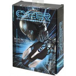Мышь проводная Oklick 855G Cyber чёрный серебристый USB