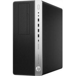 Системный блок HP EliteDesk 800 G3 i5-7500 3.4GHz 8Gb 500Gb 256Gb SSD DVD-RW Win10Pro серебристо-черный 1HK25EA