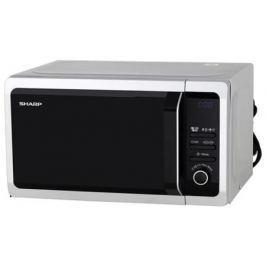 СВЧ Sharp R6852RSL 800 Вт серебристый чёрный