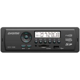 Автомагнитола Digma DCR-100B USB MP3 FM 1DIN 4x45Вт черный