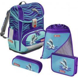 Ранец с анатомической спинкой Step by Step Light2 Happy Dolphins 138502 18 л голубой