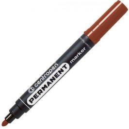 Маркер перманентный Centropen 8566/Кор 2.5 мм коричневый