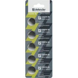 Батарейки Defender CR2016-5B CR2016 5 шт 56203