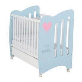Кроватка Micuna Wonderful (sky blue/white)