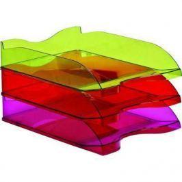 Лоток для бумаг СТАММ ЛЮКС, горизонтальный, тонированный /Слива/ ЛТ612