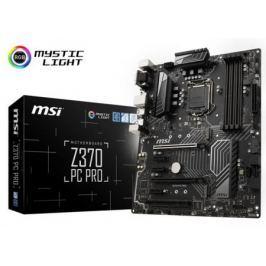Материнская плата MSI Z370 PC PRO Socket 1151 v2 Z370 4xDDR4 2xPCI-E 16x 1xPCI 3xPCI-E 1x 6 ATX