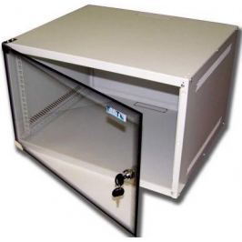 Шкаф настенный 6U Lanmaster TWT-CBWL-6U-6x4 520x450mm стеклянная дверь