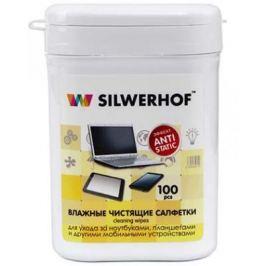 Чистящие салфетки Silwerhof Notebook Clean 100 шт 671203