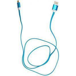 Кабель microUSB 1м Wiiix CB120-UMU-10BU плоский синий