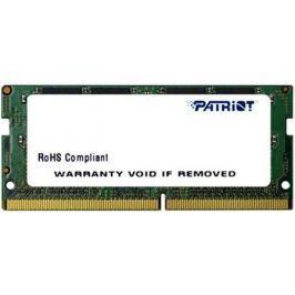 Оперативная память для ноутбуков SO-DDR4 4Gb PC4-19200 2400MHz DDR4 DIMM Patriot PSD44G240041S