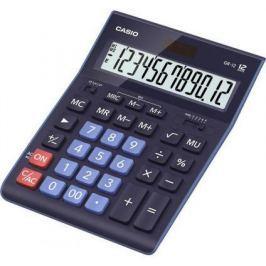 Калькулятор настольный CASIO GR-12BU 12-разрядный синий