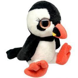 """Мягкая игрушка пингвин Wild Planet """"Пингвин"""" - Буревестник искусственный мех текстиль пластик черный белый 15 см K8166"""