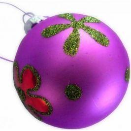 Елочные украшения Winter Wings Цветок фиолетовый 6 см 1 шт стекло N07476