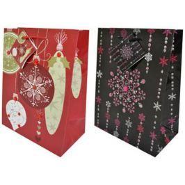 Пакет подарочный бумажный ламинированный, 178х229х98 мм, с украшением