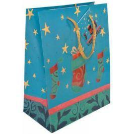 Пакет подарочный бумажный ламинированный, 178х229х98 мм, флокированный