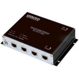 Устройство грозозащиты OSNOVO SP-IP4/1000 для локальной вычислительной сети скорость до 1000 Мб/сек 4 входа RJ45-мама/4 выхода RJ45-мама