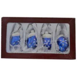 Елочные украшения Winter Wings Варежки 5.5 см 4 шт стекло N07839