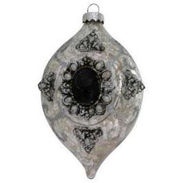 Елочные украшения Winter Wings Подвеска серый 8*9 см 1 шт стекло N07449