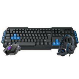 Комбо набор GAMDIAS POSEIDON E1 GM-GKS100E1 USB черный мышь/клавиатура/наушники