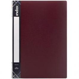 Папка с прижимным механизмом и карманом Index SATIN, форзац, ф.A4, 0,6мм, ассорти, динамичная упаковка ICF02/11/ASS_S